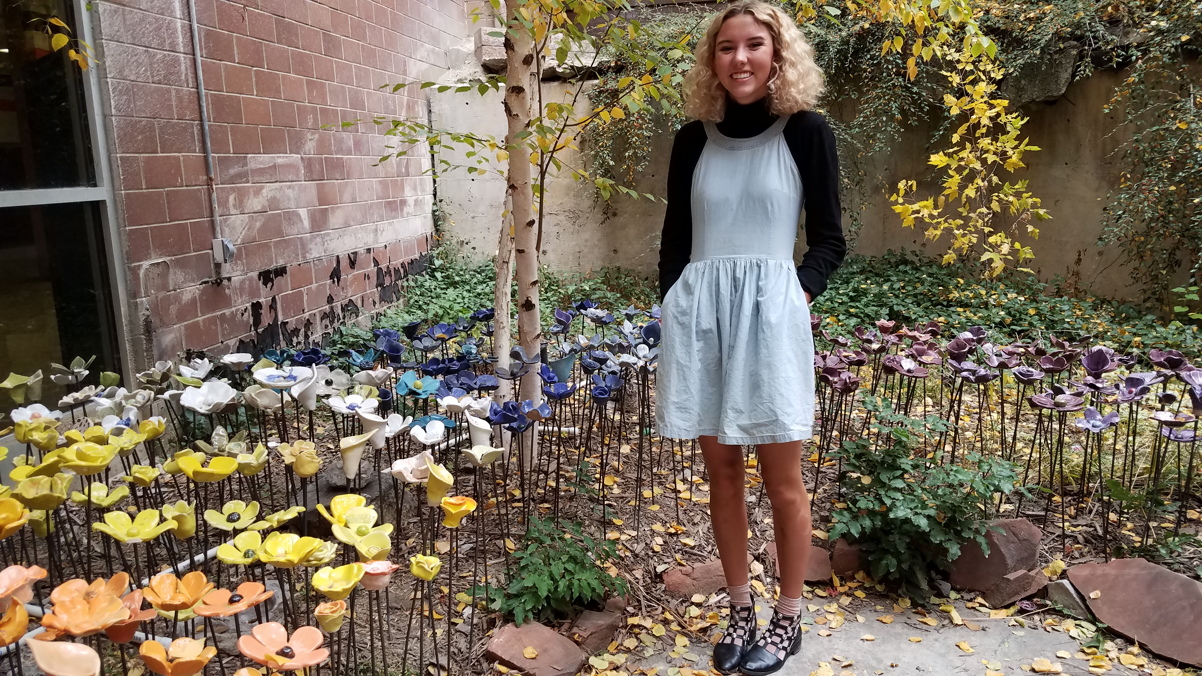 Ceramics Flowers Moved to Atrium