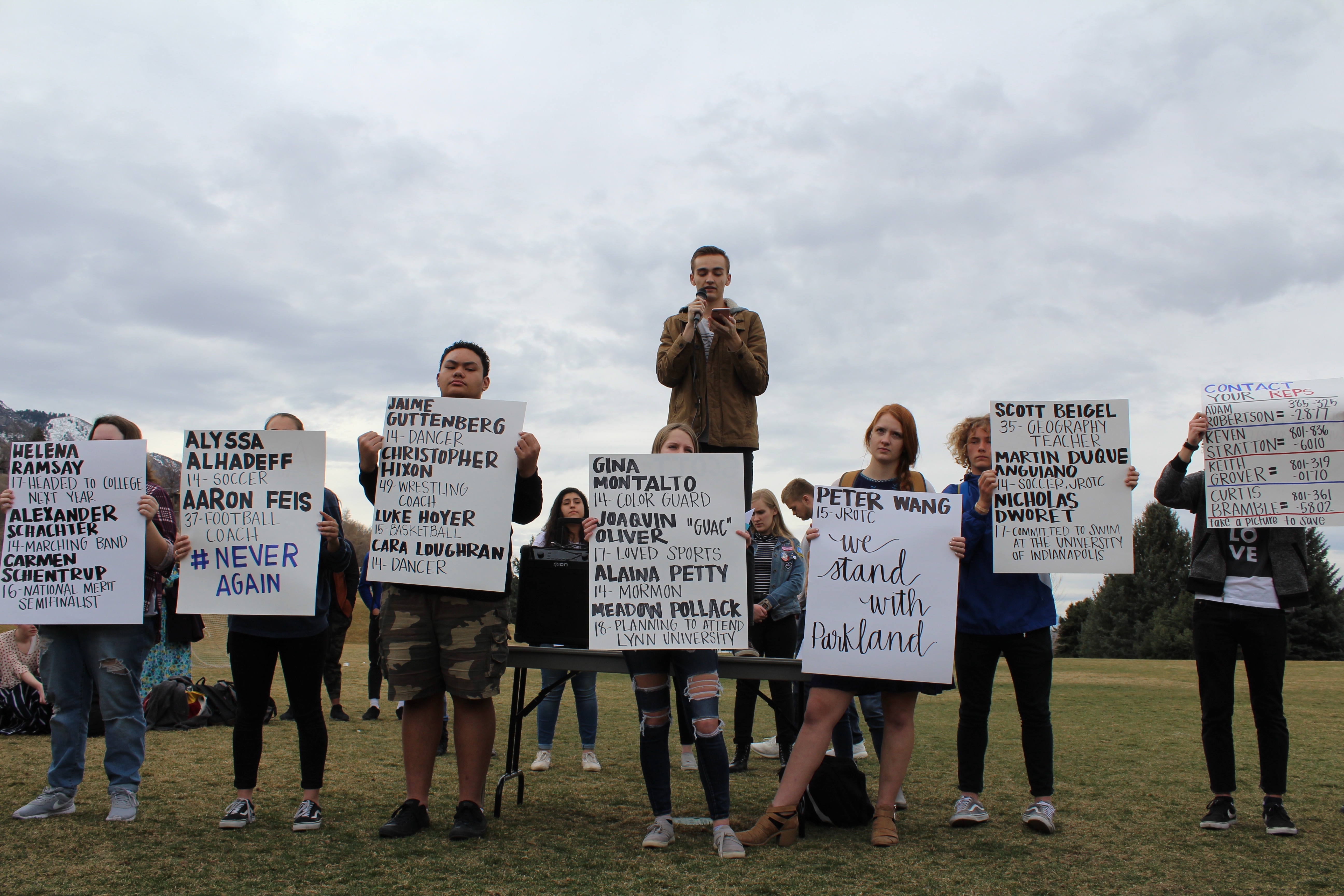 Timpview Students Walkout for a Serious Solution
